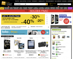 screenshot Fnac